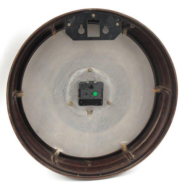 Brown Smith Huge Industrial Factory English Art Deco Bakelite Wall Clock For Sale - Image 8 of 10