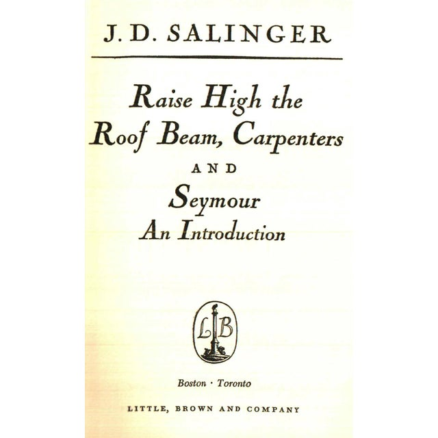 """Transitional 1959 """"Raise High the Roof Beam, Carpenters, and Seymour"""" Collectible Book For Sale - Image 3 of 6"""