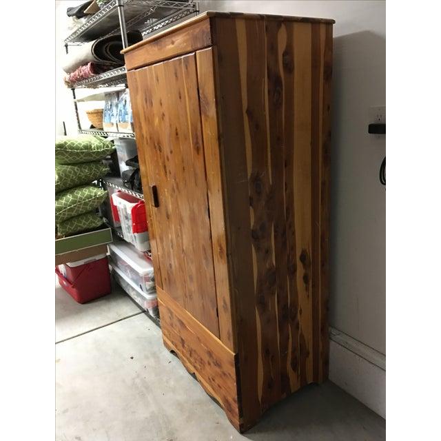 Vintage Cedar Armoire - Image 4 of 9