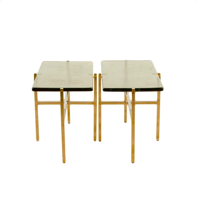 Italian Mid-Century Smoky Glass Top End Tables - a Pair For Sale - Image 13 of 13