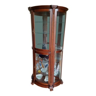Traditional Mahogany Display Cabinet For Sale