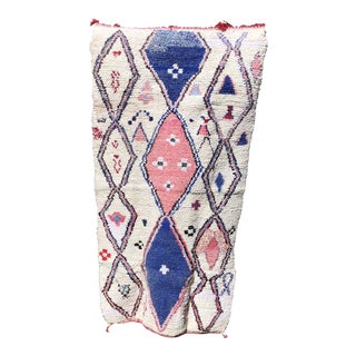 Boho Chic Boucherouite Rug For Sale