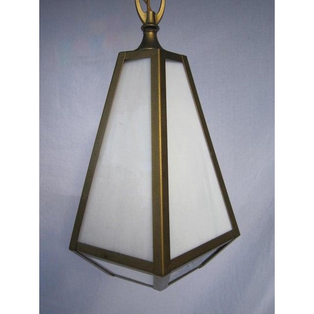 Mid Century Pendant Lights - Pair - Image 4 of 6