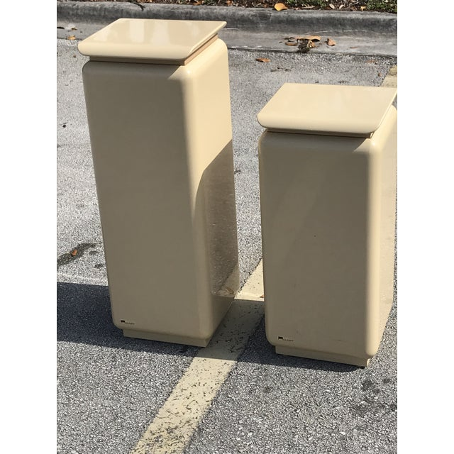 1980s Mid Century Modern Rougie Pedestals- a Pair For Sale - Image 5 of 9