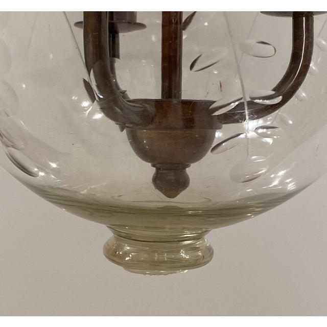 Contemporary Vintage Bell Jar Lantern, Austria Circa 1960 For Sale - Image 3 of 5