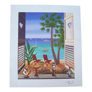 """Francois Ledan """"Volets Caraibes"""" Seriolithograph Print For Sale"""