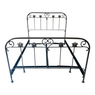 "Garden ""Birds"" Brass Plated Contemporary Iron Queen Bed"