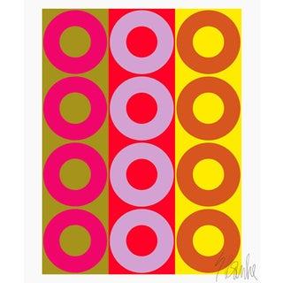 "Color Harmony Fine Art Print 45"" X 55"" by Liz Roache For Sale"