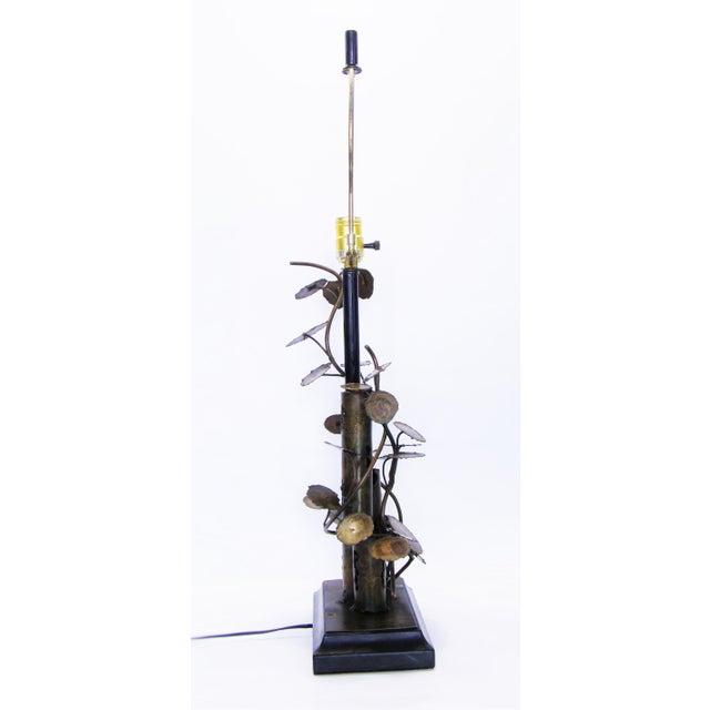 Silas Seandel Brutalist Metal Table Lamp-Curtis C. Jere Raindrops Sculpture Style Mid-Century Modern MCM Millennial - Image 10 of 11