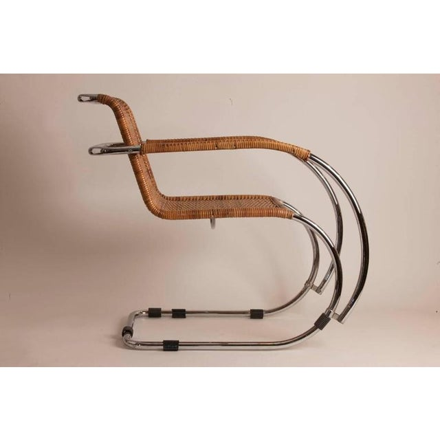 Pair of Mid-Century Mies Van der Rohe MR20 Chairs - Image 3 of 4