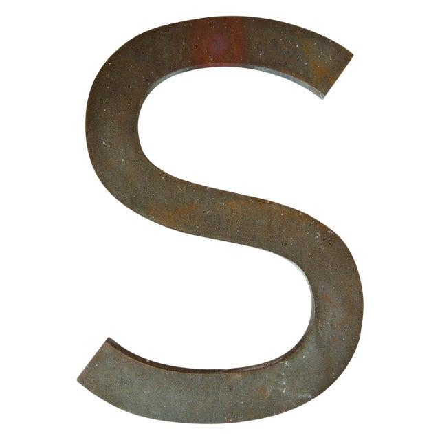 """Vintage Bronze Letter """"S"""" - Image 1 of 3"""
