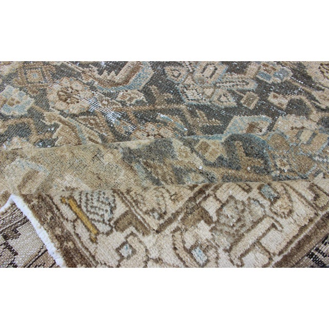Earthy Tone Vintage Persian Hamadan Rug With All-Over Pattern For Sale - Image 10 of 12