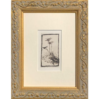 19th Century Antique English Pen & Ink Landscape Drawing For Sale