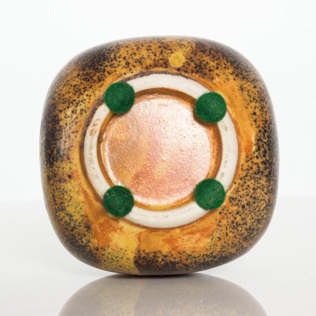 Modern Mini Weed Pot Honey Glazed Ceramic California Studio Pottery 1960s For Sale - Image 10 of 11