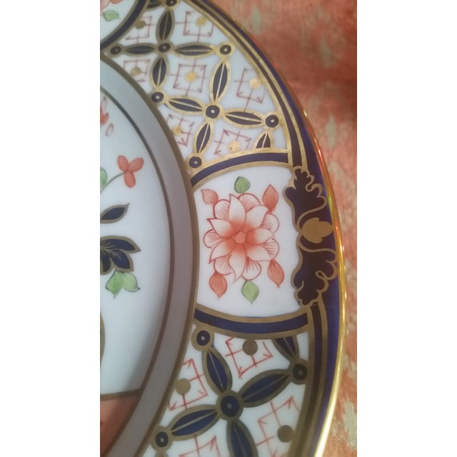 1930s 1936 Royal Crown Derby for Tiffany Imari Luncheon Plates - Set of 10 For Sale - Image 5 of 8
