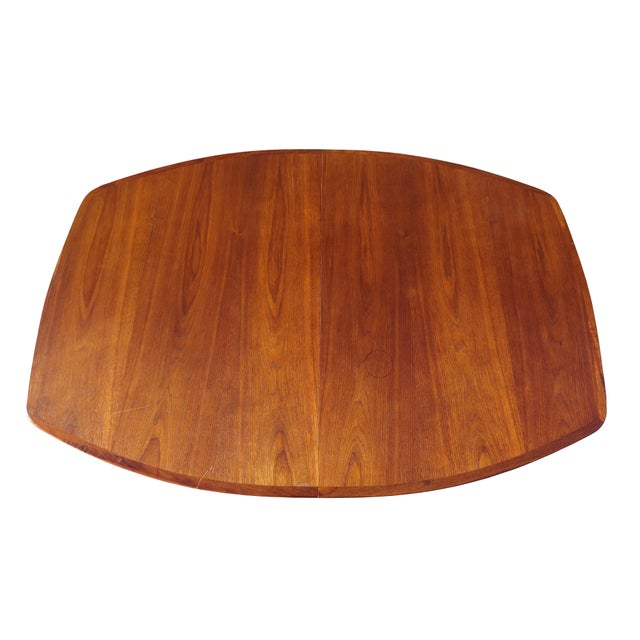 Brown 1970's Danish Modern Walnut Extendable Dining Table For Sale - Image 8 of 13