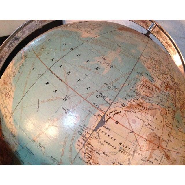 Traditional Vintage Globe on Pedestal For Sale - Image 3 of 6
