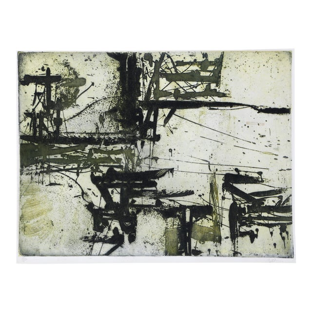 Abstract Expressionist Etching by Harry Hoehn For Sale