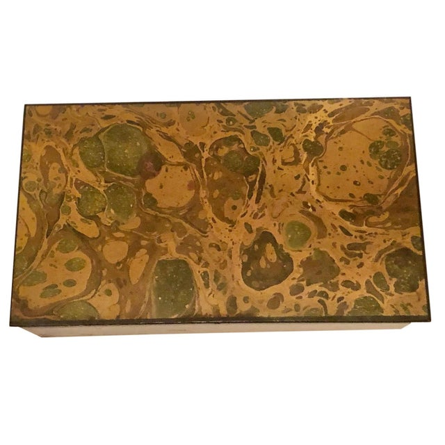 1950s Mid Century Paper and Wood Box by Alessandro Albrizzi For Sale In Tampa - Image 6 of 6