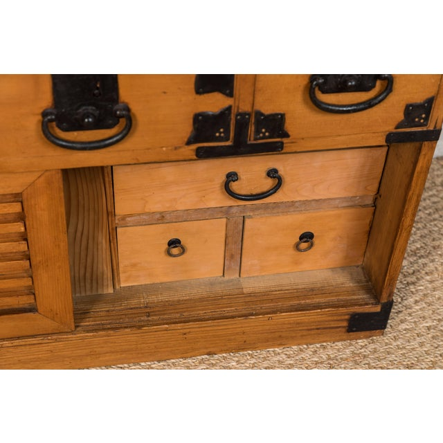 Antique Japanese Merchant's Chest For Sale In Los Angeles - Image 6 of 10