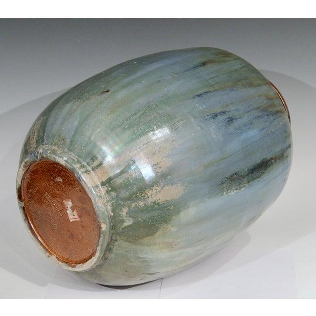 1930s 1930s Roger Guerin French Belgian Studio Art Pottery Crystalline Iridescent Glaze Vase For Sale - Image 5 of 11