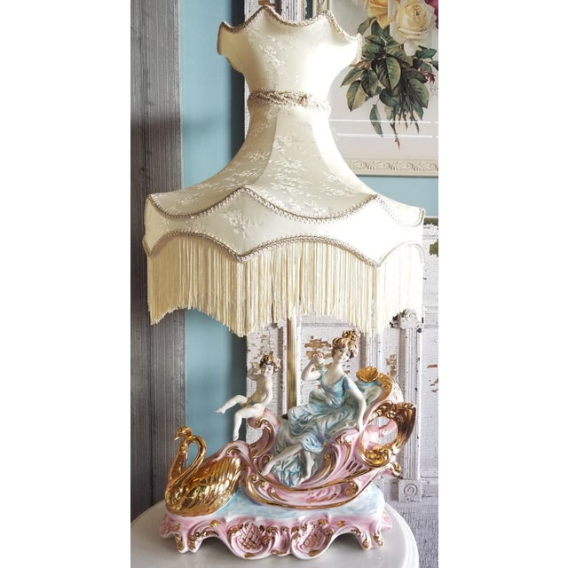Pair of beautiful vintage Italian lamps. Marked Italy on the bottom. More than likely Capodimonte, Azzolin Bros., or...