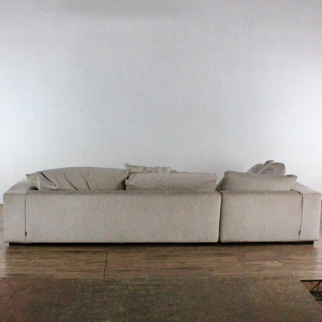 Minotti Mid Century Modern Style Italian Upholstered Sectional Sofa For Sale In San Francisco - Image 6 of 13