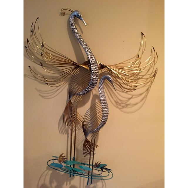 Contemporary C. Jere Cranes in the Marsh Sculpture - Pair For Sale - Image 3 of 4