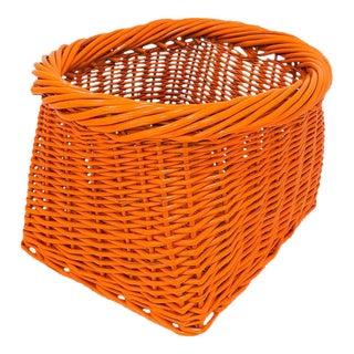 Orange Wicker Basket