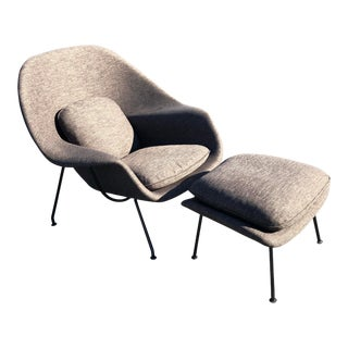 1940s Vintage Euro Saarinen for Knoll First Year Womb Chair For Sale