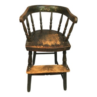 Antique American Folk Art High Chair For Sale