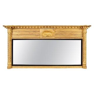 Regency Giltwood Ovemantle Mirror For Sale
