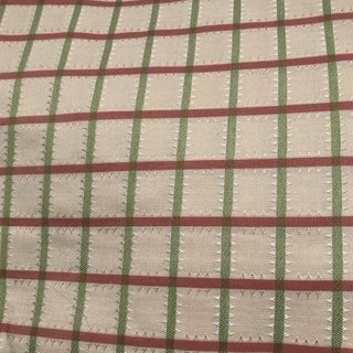 Plaid Green and Pink Fabric - 3 Yards For Sale