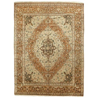 "Antique Tabriz Rug, 9'3"" x 12'7"" For Sale"