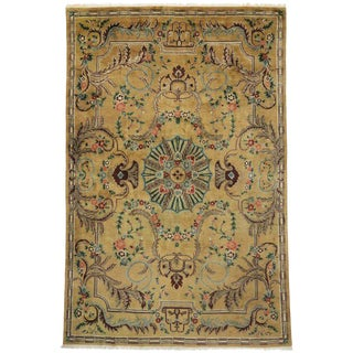 20th Century Persian Aubusson Style Long Gallery Rug - 11′9″ × 18′1″ For Sale