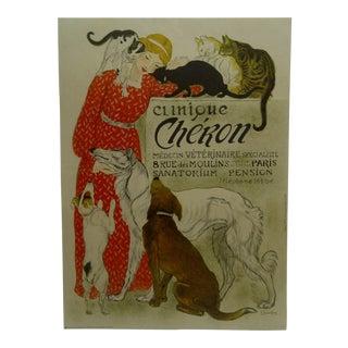 "French ""Clinique Cheron"" Veterinarian Poster"