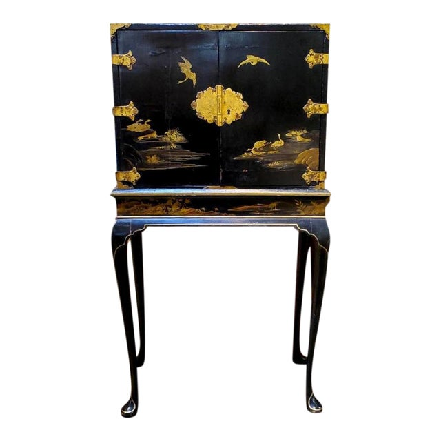 19th Century Japanese Tea Cabinet on Stand - 2 Pieces For Sale