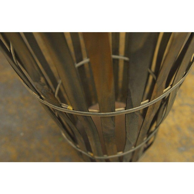 2000s Tall Wooden Cellar Baskets-Set of 3 For Sale - Image 5 of 11
