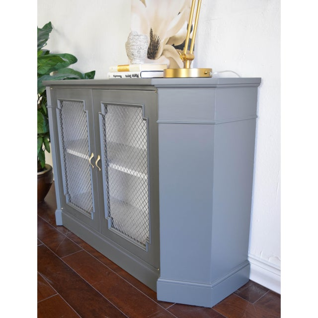 19th Century Traditional Gray and White Console Table For Sale - Image 4 of 9