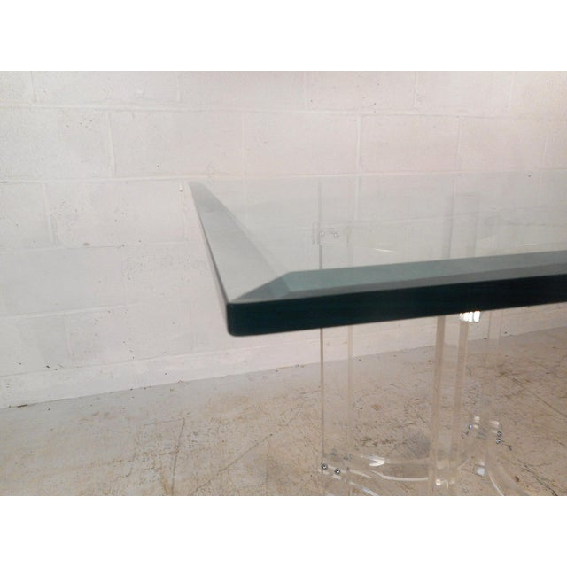 Mid-Century Modern Lucite Dining Set For Sale - Image 4 of 13