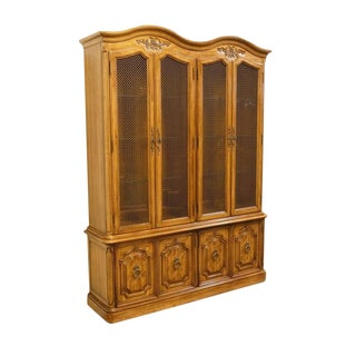 20th Century French Country Thomasville Camille China Cabinet For Sale