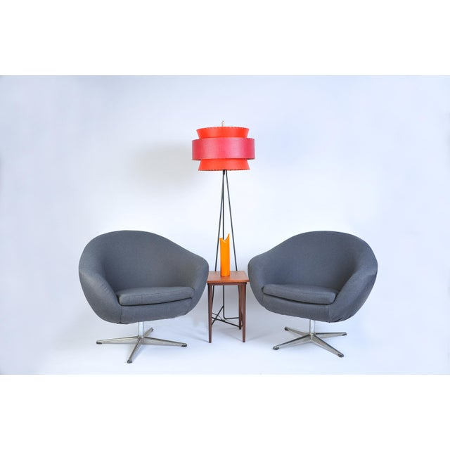 Overman Pod Swivel Chairs - A Pair For Sale - Image 5 of 8