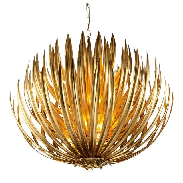 Florentine Antique Gold Leaf Artichoke Light For Sale