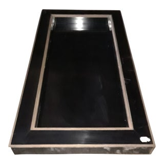Black With Brass Detail Coffee Table For Sale