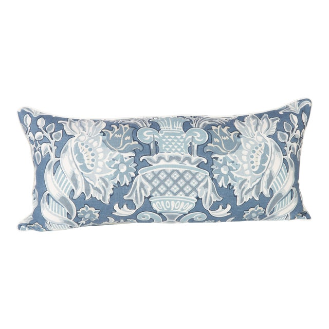 Windsor Linen Brocade Lumbar Pillow - Image 1 of 5