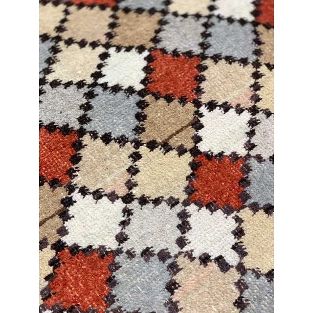 1950s Vintage Turkish Zeki Müren Eclectic Rug- 4′ × 6′10″ For Sale - Image 9 of 13