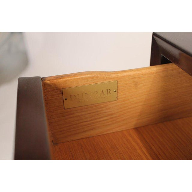Gold Edward Wormley for Dunbar Brazilian Rosewood, Ebony and Mahogany Nightstands - a Pair For Sale - Image 8 of 10