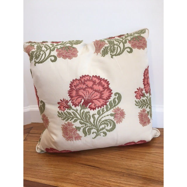 Embroidered Decorative Throw Pillows - A Pair - Image 3 of 4