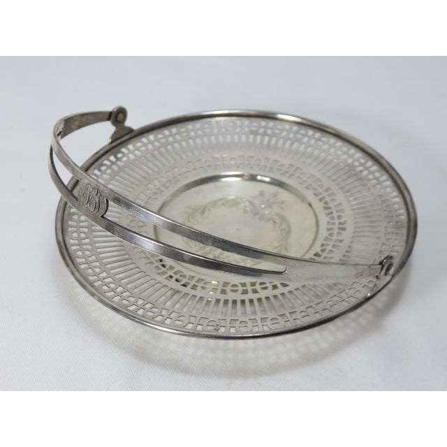 Antique Sterling Silver Mint - Candy Serving Basket For Sale In Boston - Image 6 of 12