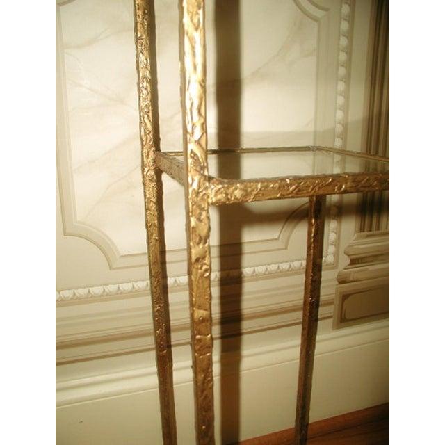 Gilt Metal & Glass 3 Tier Shelf Table - Image 9 of 9